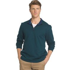 Men s IZOD Classic-Fit Solid Fleece Quarter-Zip Pullover 204b78885