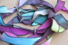 silk ribbon necklace