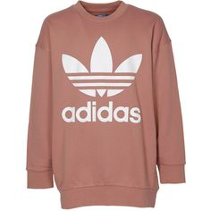 Sweatshirt (£44) ❤ liked on Polyvore featuring men's fashion, men's clothing, men's hoodies, men's sweatshirts, pink, mens pink sweatshirt and adidas mens sweatshirt