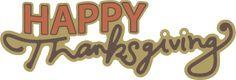 Happy Thanksgiving Caption SVG
