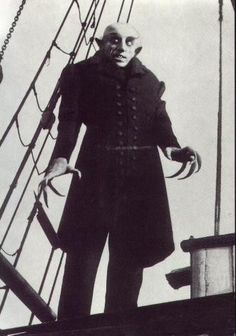 "A Horror Movie Filmed in Black & White: NOSFERATU, 1922. The first (and unauthorized) adaptation of Bram Stoker's ""Dracula"" is even scarier as an old eerie silent film that almost never saw the light of day, had one copy not escaped a judge's order that all copies be burned."