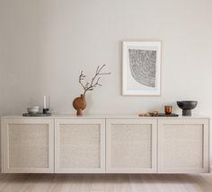 Besta cane cabinet (doors only) – Fronteriors Living Room Interior, Home Living Room, Living Room Designs, Living Room Decor, Ikea Furniture, Furniture Design, Beige Cabinets, Interior Decorating, Interior Design