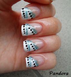 Pandora nails: Glitter nail art