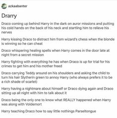 Drarry (Just gonna think that the last one is harry lying about it cuz he can't speak it anymore) Harry Potter Comics, Harry Potter Feels, Harry Potter Puns, Harry Potter Draco Malfoy, Harry Potter Ships, Harry Potter Fan Art, Harry Potter Universal, Harry Potter World, Drarry