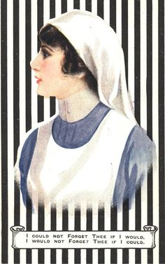 The nurse portrayed as sentimental companion, ca. 1915. Pictures of Nursing: The Zwerdling Postcard Collection. National Library of Medicine