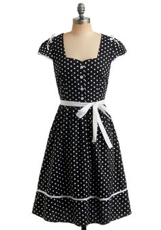 black, white, polka dot, bows, fabulous fifties dress $69.99