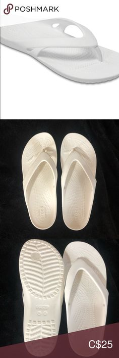 Spotted while shopping on Poshmark: CROCS White Thong Sandal! Women's Crocs, Crocs Shoes, Women's Shoes Sandals, Sneakers, Closet, Stuff To Buy, Fashion Trends, Shopping, Accessories