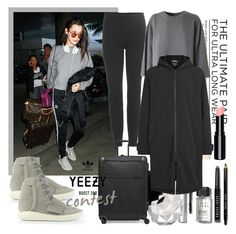 """YEEZY"" by din-sesantadue ❤ liked on Polyvore featuring Bobbi Brown Cosmetics, Urban Decay, adidas Originals, adidas, Tumi, women's clothing, women, female, woman and misses"