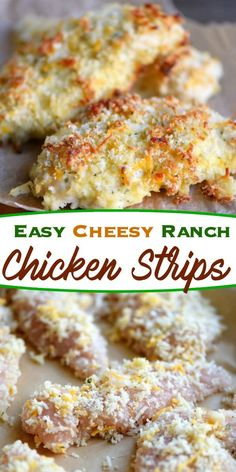 Busy weeknights demand quick and delicious dinners that the whole family will enjoy. These Easy Cheesy Ranch Chicken Strips fit the bill perfectly!