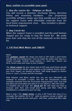 Do it yourself pools inground pools kits back yard pinterest do it yourself pools inground pools kits solutioingenieria Images