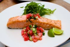 Fast Paleo » Slow-Cooked Salmon and Watermelon Mint Salsa - Paleo Recipe Sharing Site