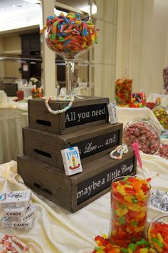 Wedding Candy Bar// I'm already in the dress why not indulge in my favorite sweets :3