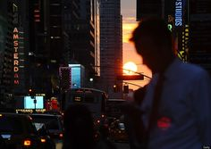 Manhattanhenge 2012: A Full Sun Aligns With New York City Grid On July 11th