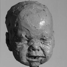 """Adam Pyś Sculpture Portrait in the clay. """"First Breath"""" 2015"""