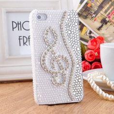 Cute 3D Bling Handmade Pearl Rhinestone Crystal Gem