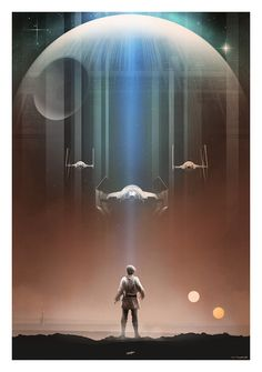 Gorgeous Star Wars trilogy posters by Andy Fairhurst. #StarWars