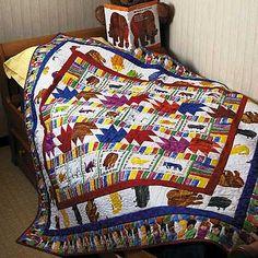 Be Sew Happy Quilt Shop - Brown Bear Brown Bear Quilt Kit by Gail Kessler, $69.95 (http://www.besewhappy.com/products/Brown-Bear-Brown-Bear-Quilt-Kit-by-Gail-Kessler.html)