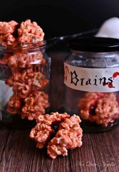 Bloody Popcorn Brains and other Halloween foods