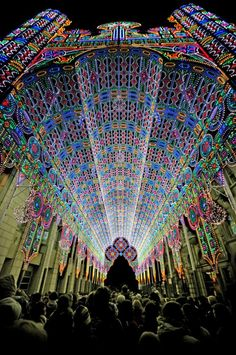 Cathedral - 2012 Light Festival in Ghent, Belgium