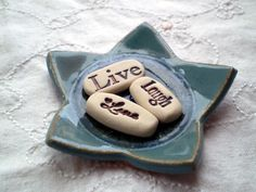 Live Love Laugh Message Stones, Birthday Gift, Care Package Gift, Inspirational Stones by spinningstarstudio on Etsy