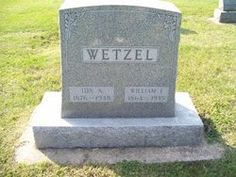 Ida A Wetzel daughter of George Wendt and Maria Boening wife of William Frederick Wetzel