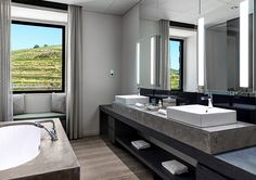 Quinta Courtyard Suite bathroom at Six Senses Douro Valley, Portugal  http://www.sixsenses.com/resorts/douro-valley/accommodation/rooms-and-suites