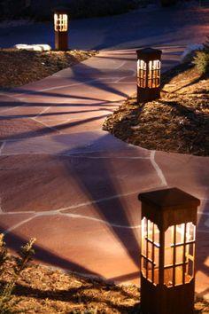 The Best Outdoor Walkway Lights Ideas Driveway Lighting, Contemporary Outdoor Lighting, Outdoor Lighting Landscape, Outdoor Walkway, Landscape Lighting Design, Walkway Lights, Outdoor Garden Decor, Pathway Lighting, Backyard Lighting
