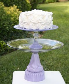 Lavender Shabby Chic 2 Tier Vintage Reclaimed by RedEggBoutique