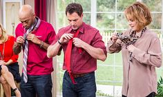 Knowing how to tie a tie is becoming a lost art! Host @Mark Steines leads a tutorial on proper tie tying etiquette! #HomeandFamilyTV