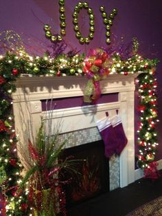 southern christmas show with a joy mantel - Joy Christmas Decoration