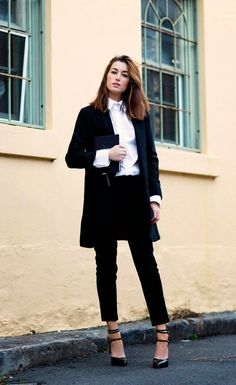 The Chronicles Of Her Is Wearing Black Trousers From ASOS, Black Jacket From Hanzel & Gretel, White Shirt From Josh Goot And Shoes From Sain...