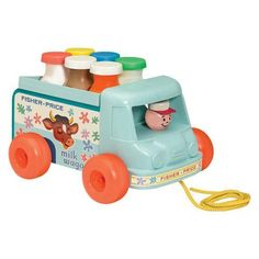 Playskool Milk Truck filled it with water and got my dad everytime:)
