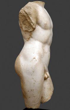 Roman Marble Torso of Apollo, - Centuries AD Roman Sculpture, Stone Sculpture, Sculpture Clay, Ancient Romans, Ancient Art, Carpeaux, Classical Greece, Hellenistic Period, Roman Art