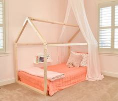 Pink Girls Room house bed
