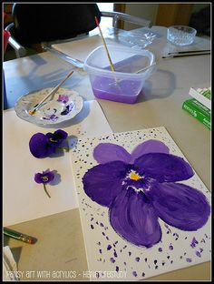 spring flower nature study and art project