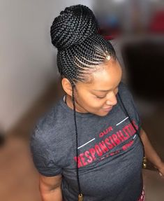 Braided Cornrow Hairstyles, Cornrow Ponytail, African American Braided Hairstyles, Braided Hairstyles For Black Women, African Braids Hairstyles, Girl Hairstyles, Black Girl Braids, Braids For Black Hair, Girls Braids