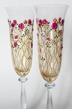 Wedding ceremony Wedding glasses Toasting Flutes Wedding