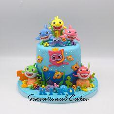 The Sensational Cakes: Baby Shark family underwater ocean cute sugar handcrafted birthday customized cake Shark Birthday Cakes, 2nd Birthday Party For Girl, Card Birthday, Birthday Greetings, Birthday Ideas, Happy Birthday, Underwater Birthday, Shark Cake, Paw Patrol Cake