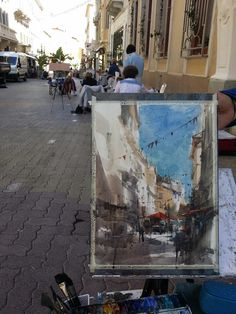 Chien Chung-Wei Plein air Hyeres, France. Watercolor by Chien chung wei.