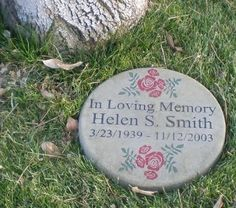 personalized engraved memorial garden stone 11 diameter