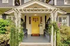 Great entryway. I love the door!