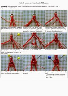 il macramè di sabrina: Tutorial braccialetto Melograno
