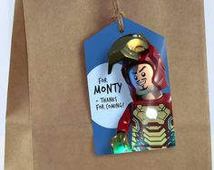 Lego Avengers Party Tags Personalise edit and by MontyandMeShop