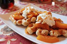 peach waffles - with a go-to waffle recipe