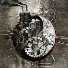 Steampunk Yin Yang 3-D conversion by MVRamsey.deviantart.com on @deviantART