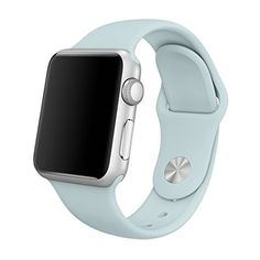 Apple Watch Sport Band 38mm Marge Plus Soft Silicone Replacement Sport Style Band iWatch Strap for Apple Watch Series 1 Series 2 All Models  Turquoise ML >>> See this great product.