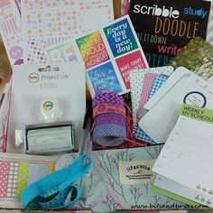 Bits and Boxes: PlannerPacks Subscription Box Review December 2015 and Coupon #plannerpacks #planners #erincondren #stickers #subscriptionbox