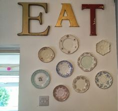 So, the other weekend I spent way too long hanging some fantastic old plates on our kitchen wall with my girlfriend. The only thing we knew . Hang Plates On Wall, Plate Wall Decor, Hanging Plates, Old Plates, Vintage Plates, Antique Plates, China Plates, Plate Collage, Wall Collage