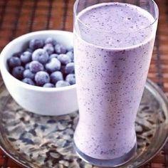 Blauwe bessen smoothie