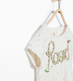 """Imagem 4 de T-shirt bolinhas """"Roar"""" da Zara"""